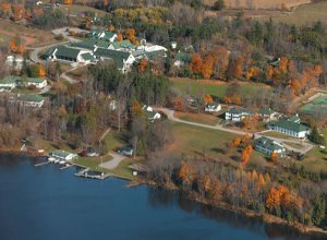 Overview of the LCS campus. Lots of lake and forest to explore!