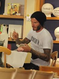 Even David Beckham paints.