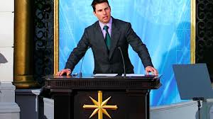 Tom Cruise speaking at a scientology event. Still psyched about Katie Holmes.