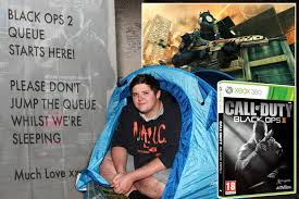 Camping out to buy Call of Duty