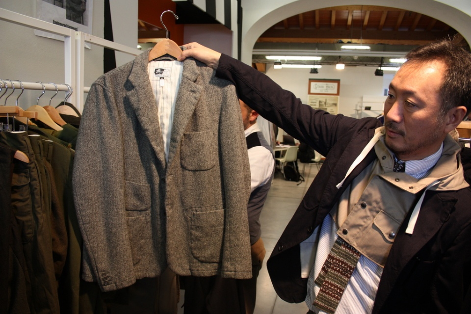 Daiki Suzuki of Engineered Garments showcasing a blazer from FW/11