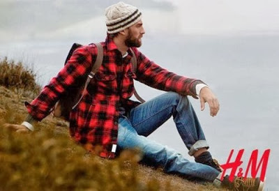 "Even H&M, which used to be a store for ""metrosexual"" men, has jumped on the urban lumberjack bandwagon."