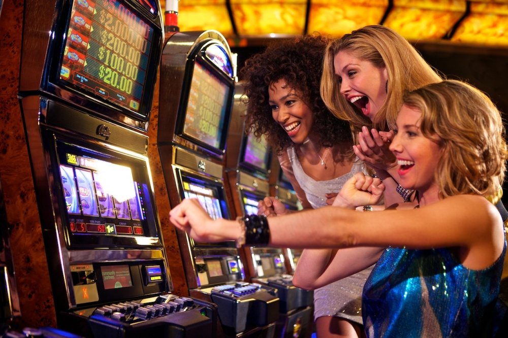 "Oddly enough, most Google image results for ""people playing slot machines"" were all high quality pictures of groups of attractive women having a blast playing the slots. Nothing could be farther from the truth."