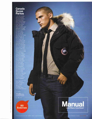 Canada Goose in GQ