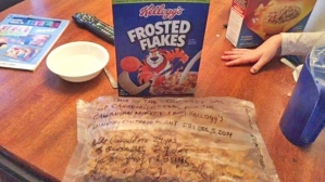 The last box of Frosted Flakes made at the London, Ontario Kellogg plant.