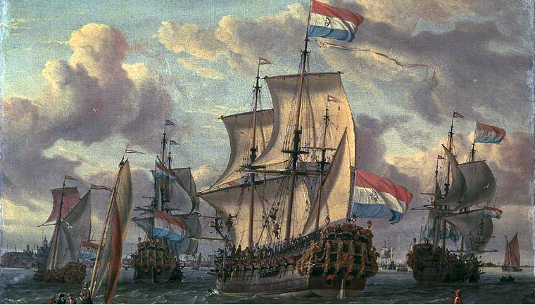 Some of the Dutch East India Company's fleet.