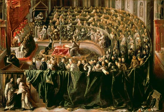 The trial of Galileo Galilei.